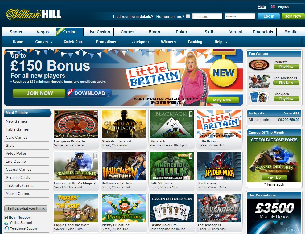william hill gambling